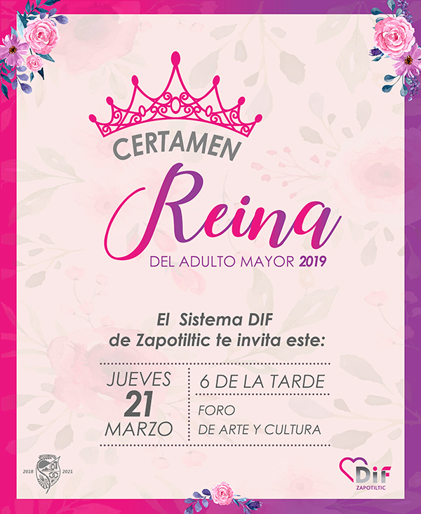 INVITACIÓN CERTAMEN REINA ADULTO MAYOR 2019 01 600px